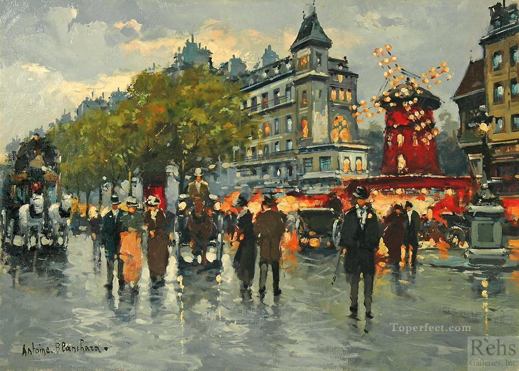 antoine blanchard moulin rouge Oil Paintings