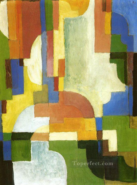 Colored Forms I August Macke Oil Paintings
