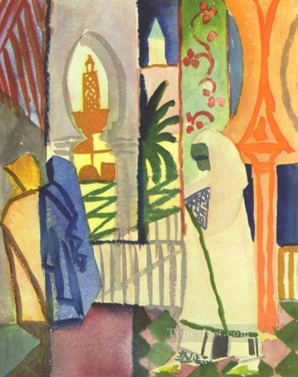In The Temple Hall August Macke Oil Paintings