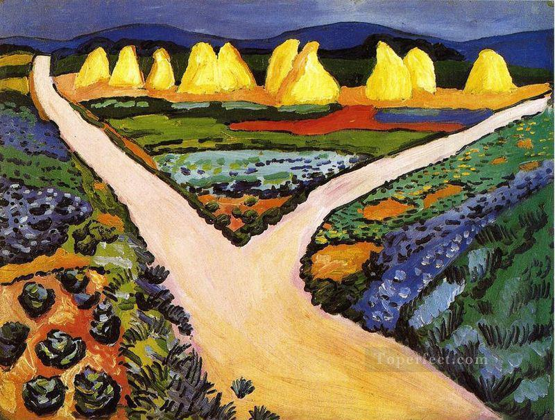 Vegetable Fields August Macke Oil Paintings