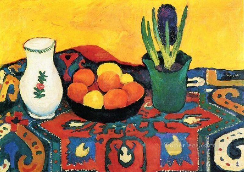Style Life With Fruits August Macke Oil Paintings