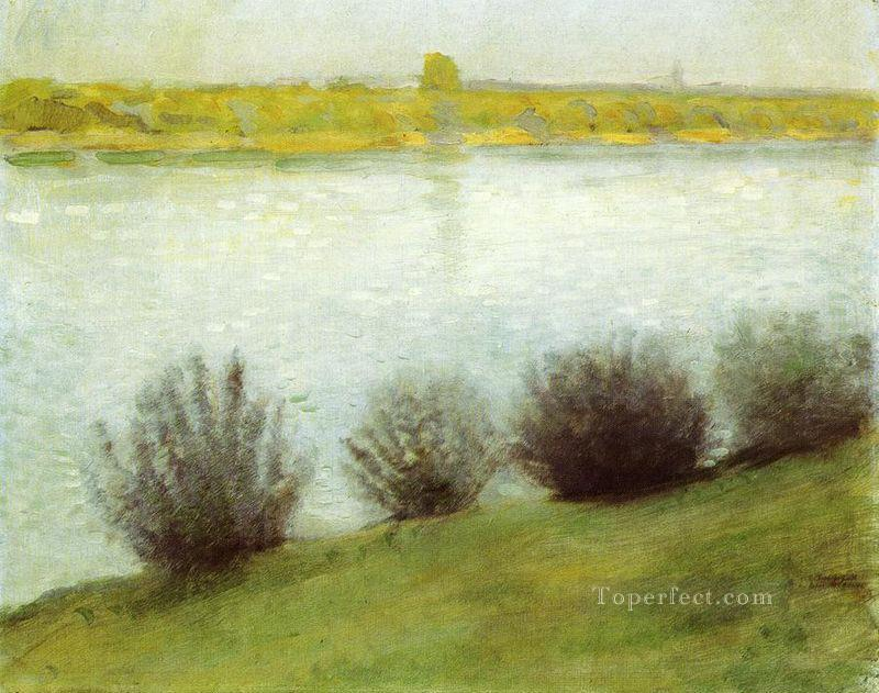 The Rhine near Herzel August Macke Oil Paintings