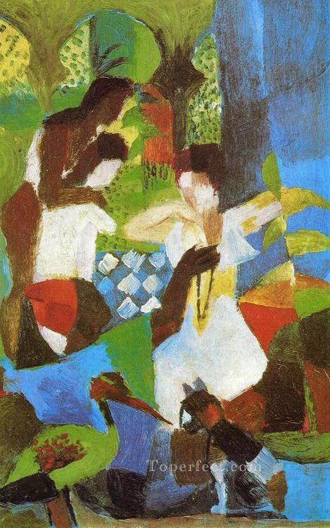 Turkish Jewel Trader August Macke Oil Paintings