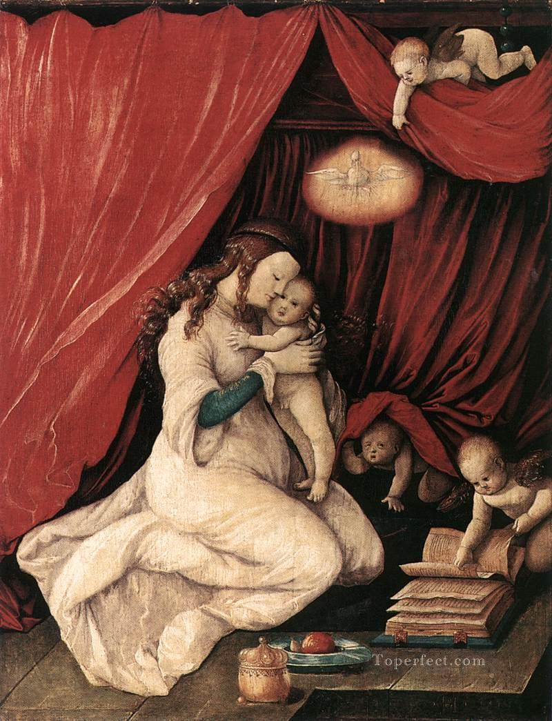 Virgin And Child In A Room Renaissance painter Hans Baldung Oil Paintings
