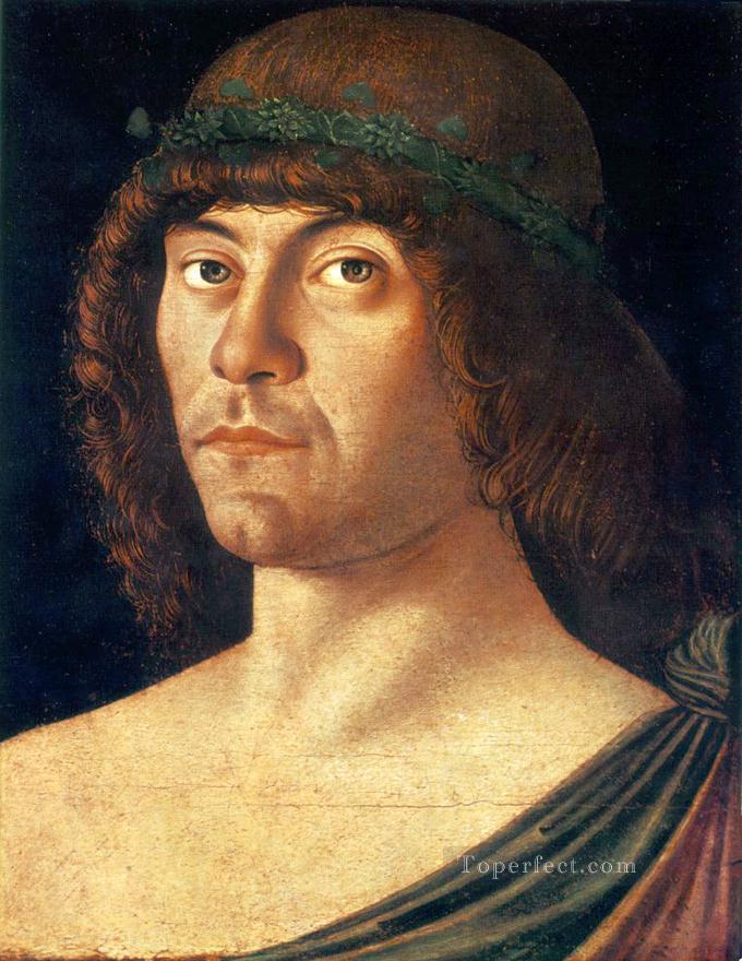 Portrait of a humanist Renaissance Giovanni Bellini Oil Paintings
