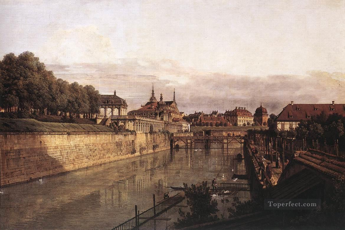 Zwinger Waterway urban Bernardo Bellotto Oil Paintings