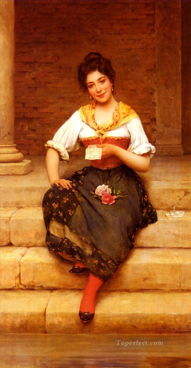 The Love Letter lady Eugene de Blaas Oil Paintings