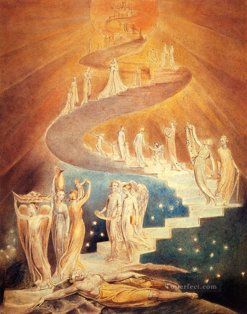 Jacobs Ladder Romanticism Romantic Age William Blake Oil Paintings