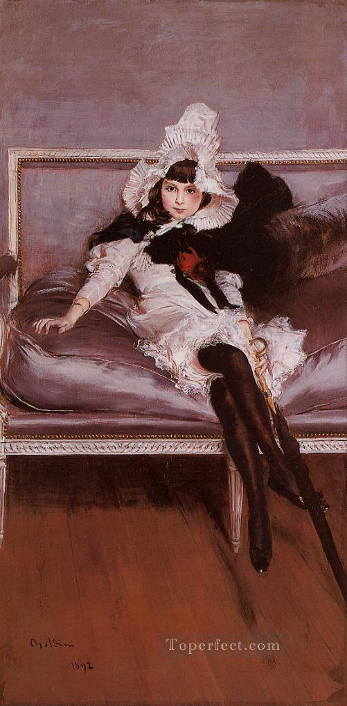 Portrait of Giovinetta Errazuriz genre Giovanni Boldini Oil Paintings