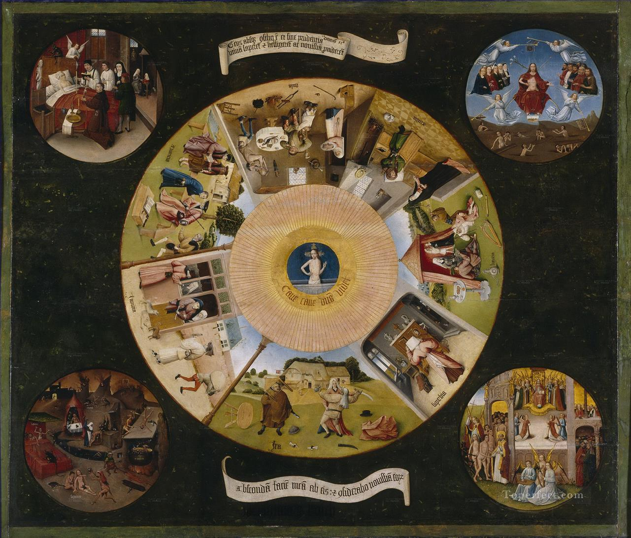 the seven deadly sins and the four last things 1485 Hieronymus Bosch Oil Paintings