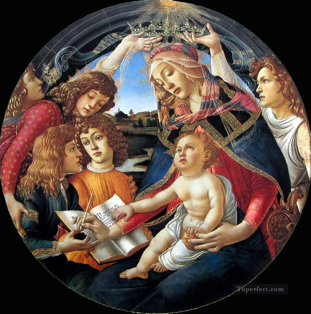 Sadro Madonna Of The Magnificat Sandro Botticelli 2 Oil Paintings