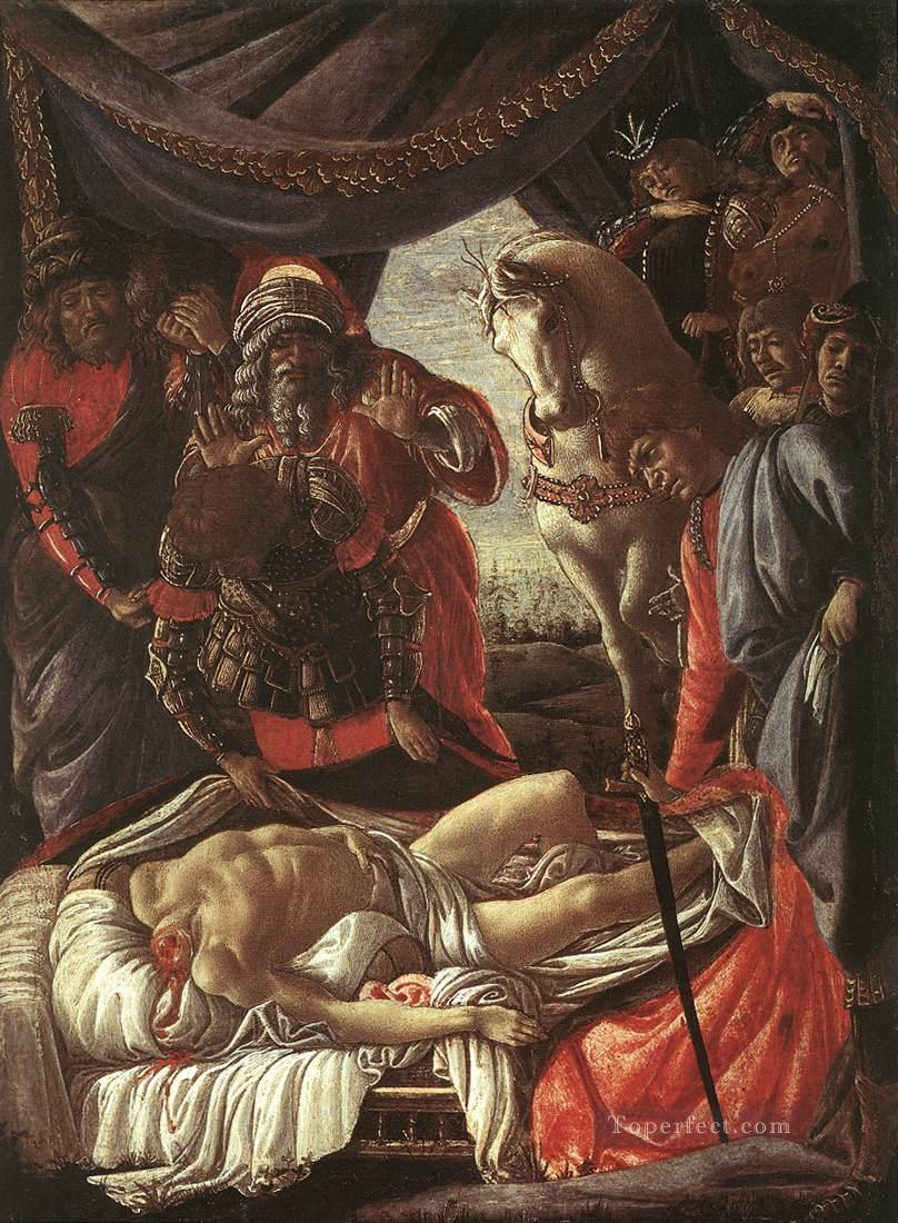 Discovery of murder Holophernes Sandro Botticelli Oil Paintings