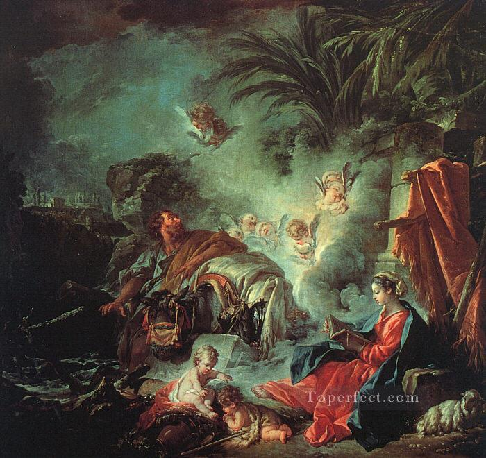 The Rest on the Flight into Egypt Rococo Francois Boucher Oil Paintings