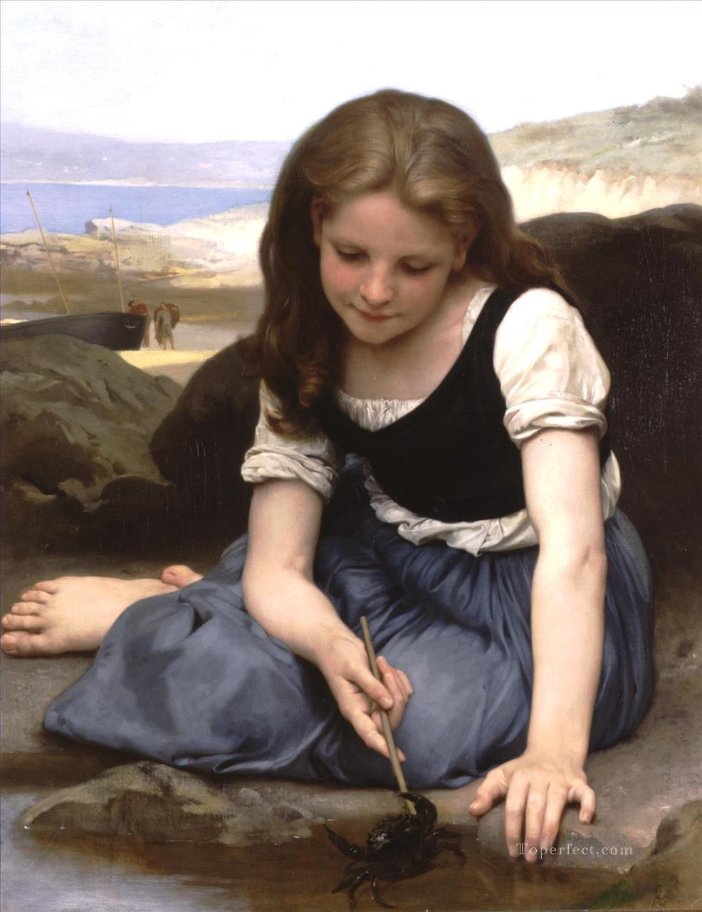 Le Crab Realism William Adolphe Bouguereau Oil Paintings