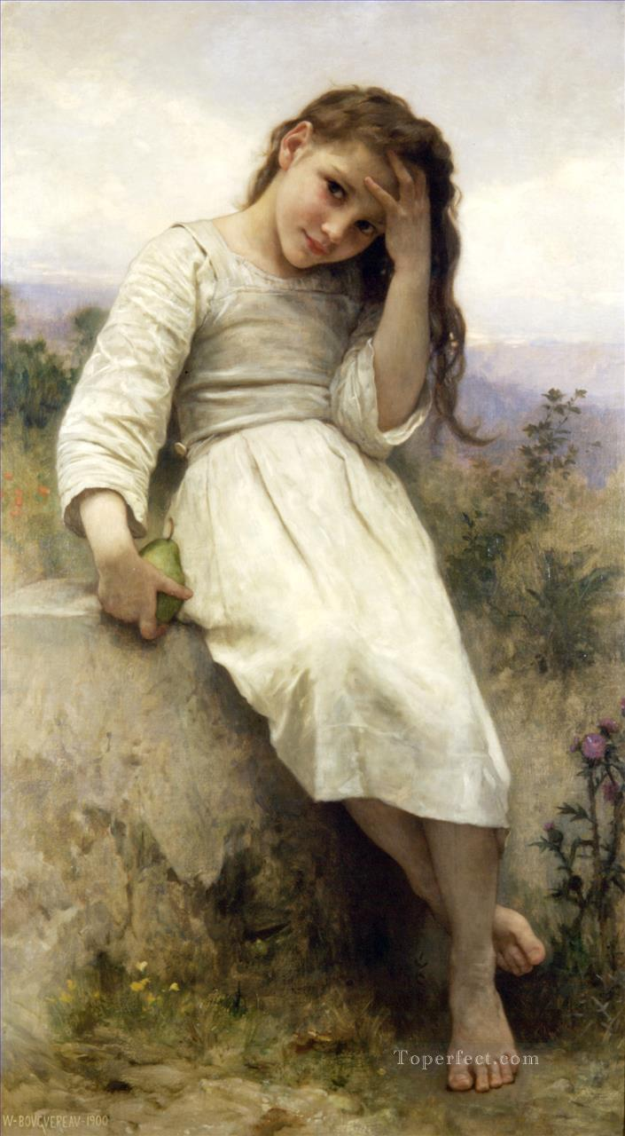 The Little Marauder 1900 Realism William Adolphe Bouguereau Oil Paintings