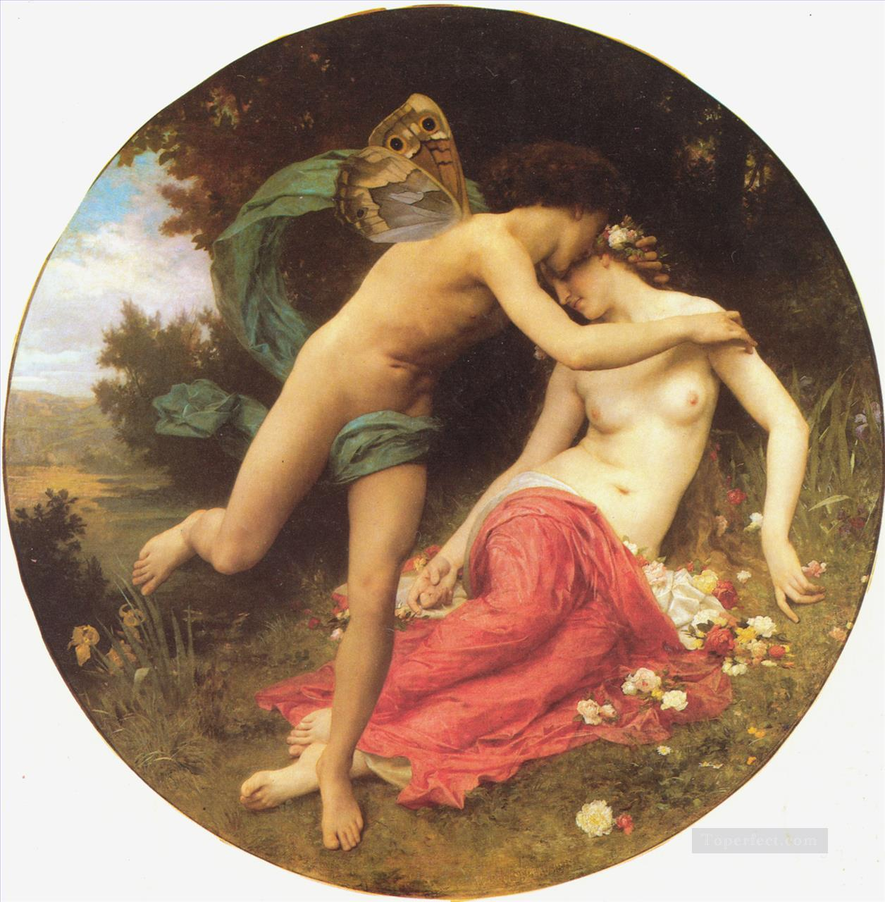 Cupid and Psyche William Adolphe Bouguereau Oil Paintings