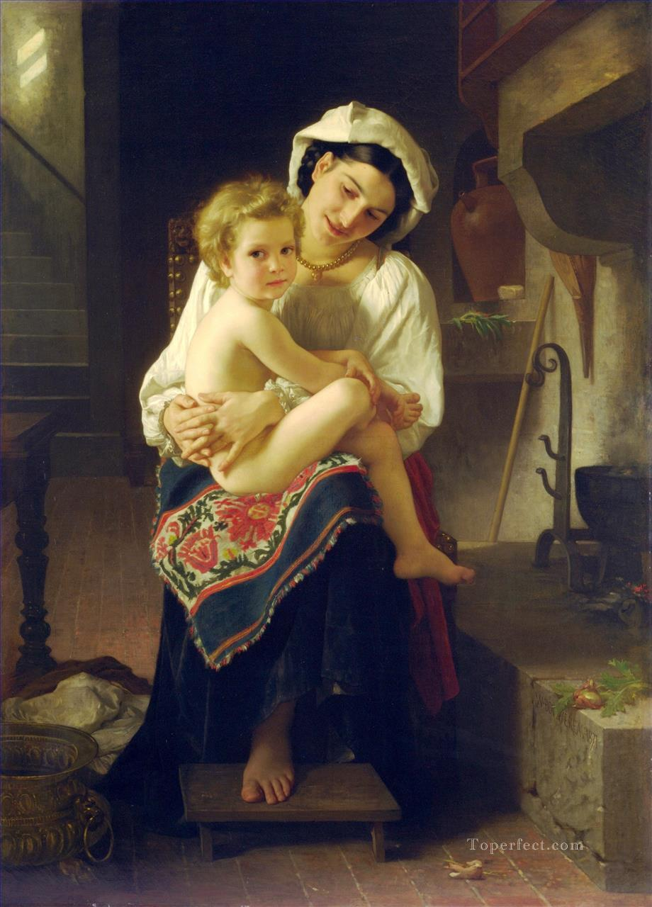 Le Lever Realism William Adolphe Bouguereau Oil Paintings