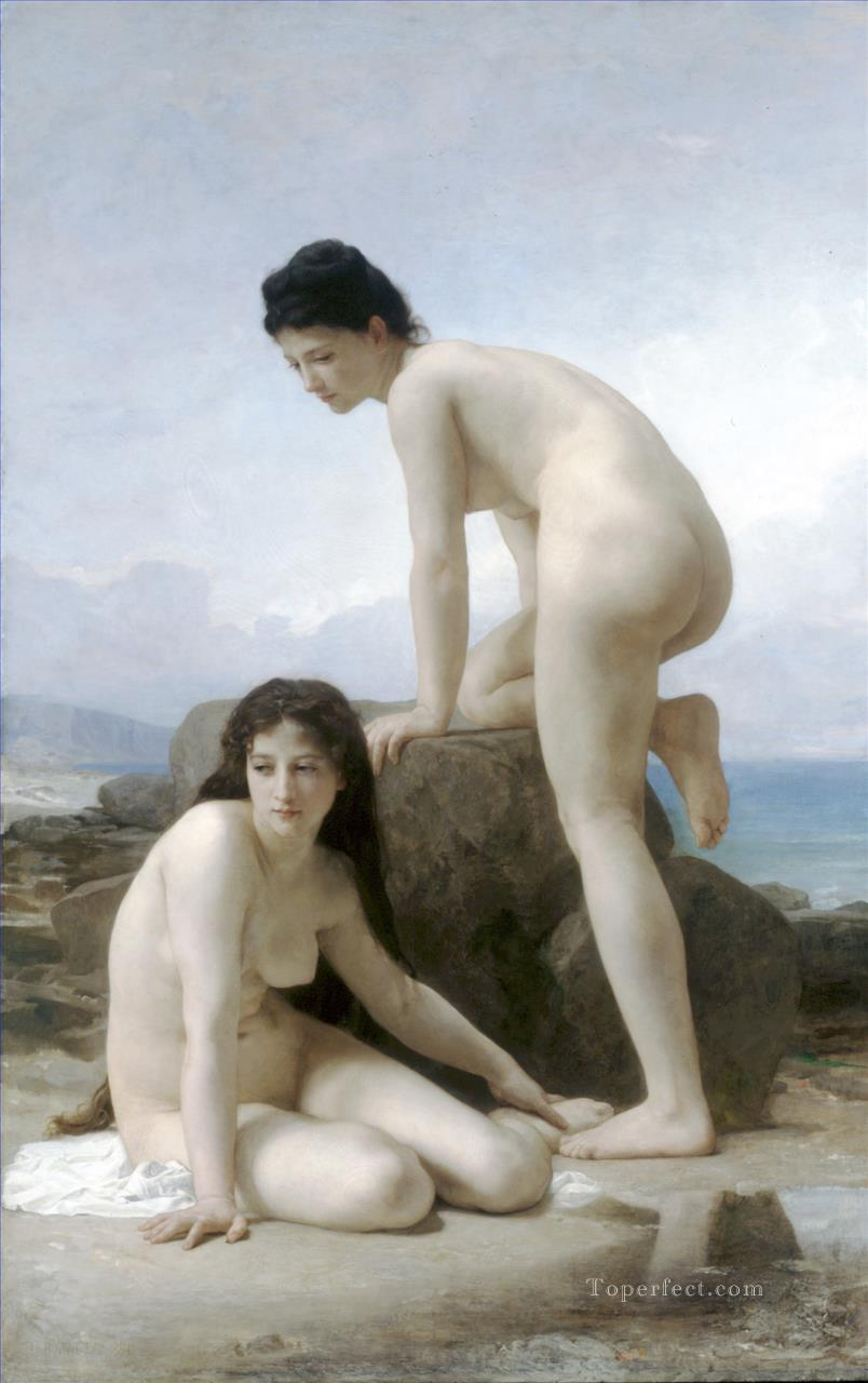 Les deux baigneuses William Adolphe Bouguereau Oil Paintings
