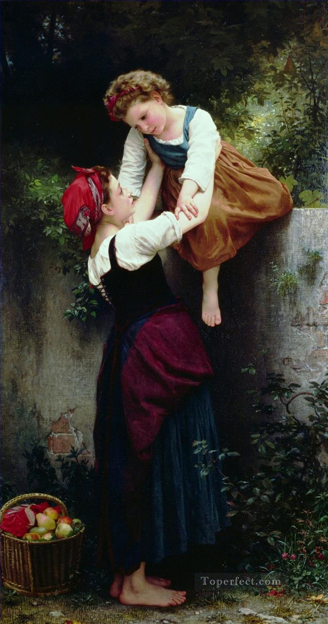 Petites maraudeuses Realism William Adolphe Bouguereau Oil Paintings