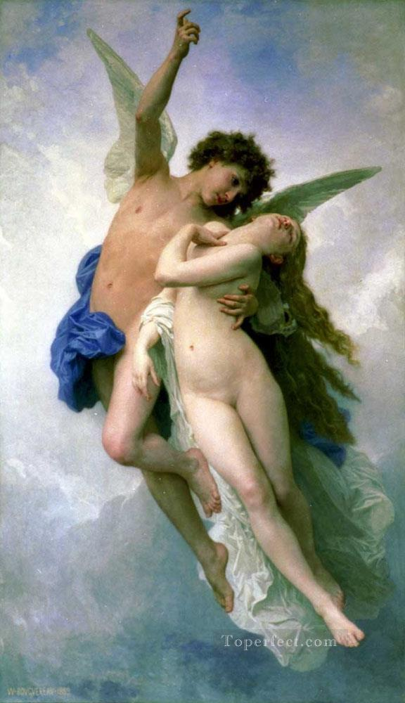Psyche et LAmour William Adolphe Bouguereau Oil Paintings