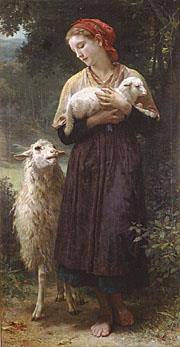 The Shepherdess 1873 Realism William Adolphe Bouguereau Oil Paintings