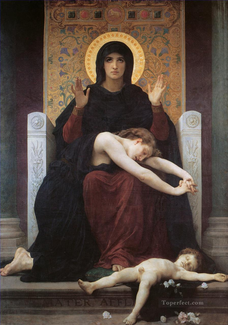 Vierge consolatrice Realism William Adolphe Bouguereau Oil Paintings