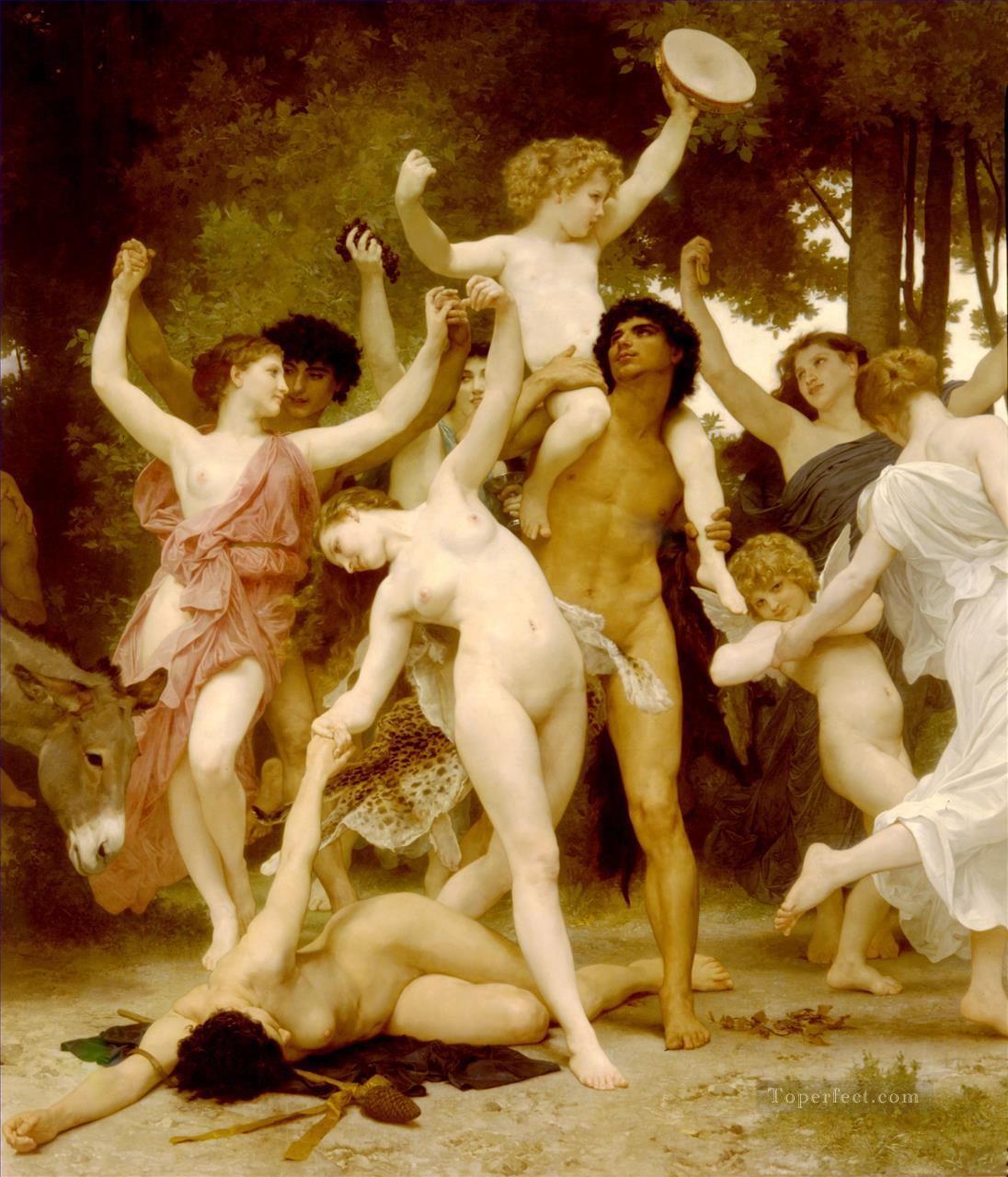 La jeunesse de Bacchus centre dt William Adolphe Bouguereau Oil Paintings