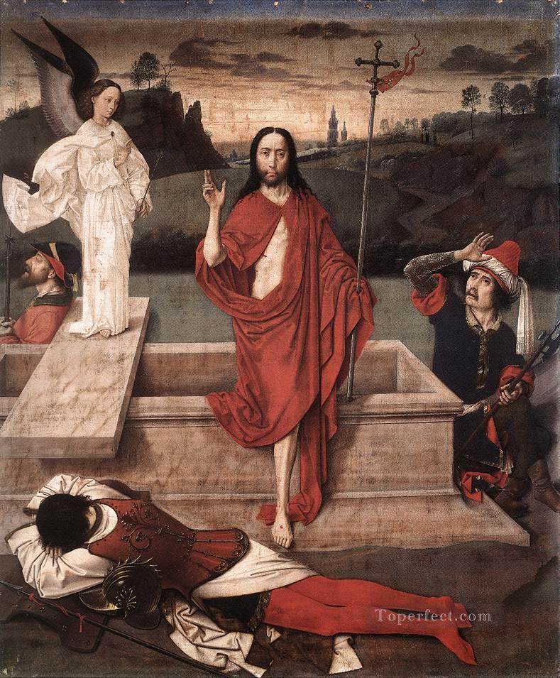 Resurrection Netherlandish Dirk Bouts Oil Paintings