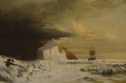 An Arctic Summer Boring Through The Pack In Melville Bay William Bradford Oil Paintings