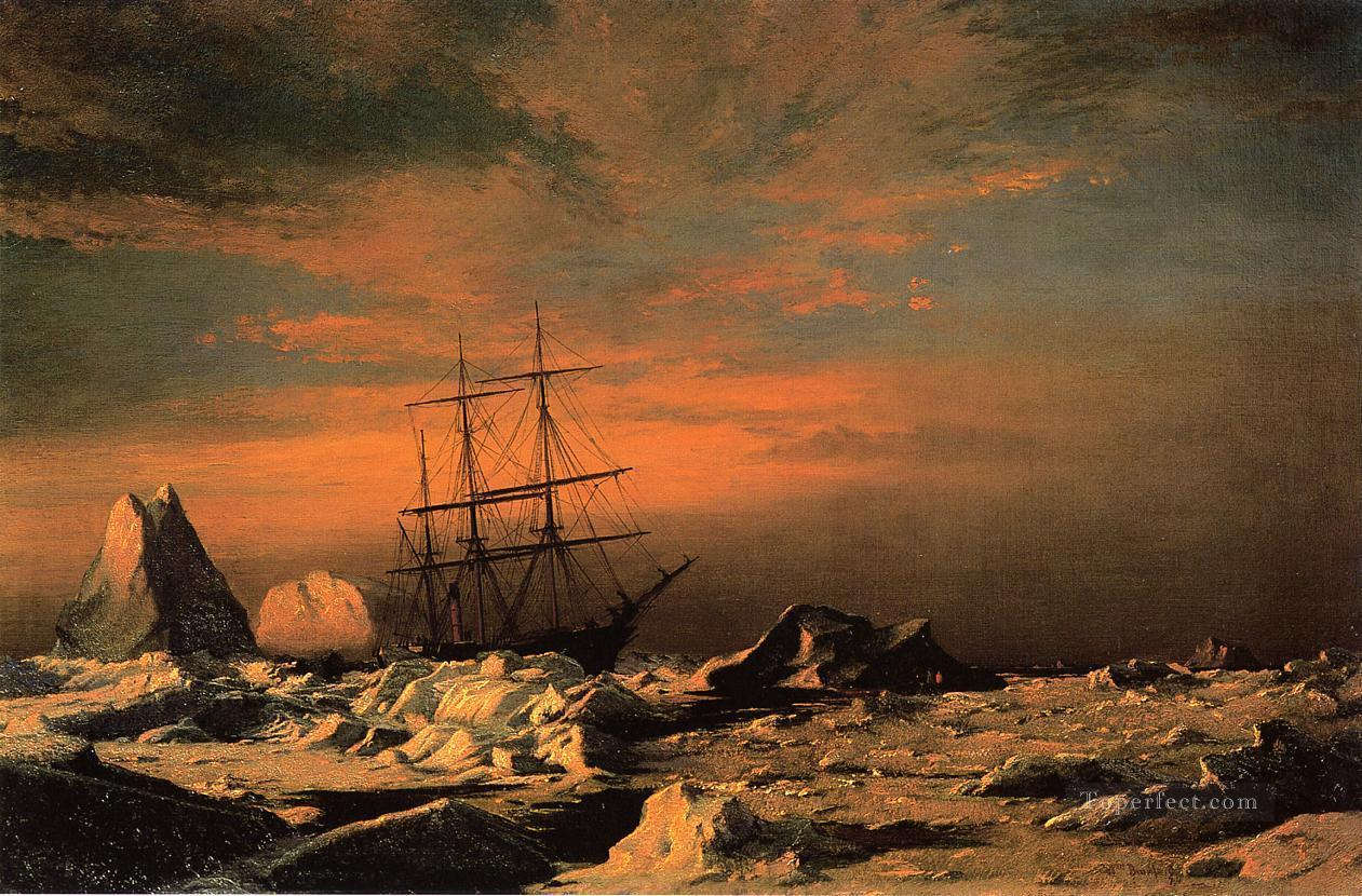 Ice Dwellers Watching the Invaders William Bradford Oil Paintings
