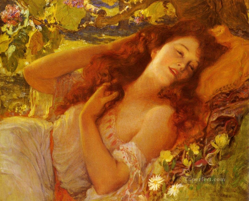 Dolce Far Niente Frederick Arthur Bridgman Oil Paintings