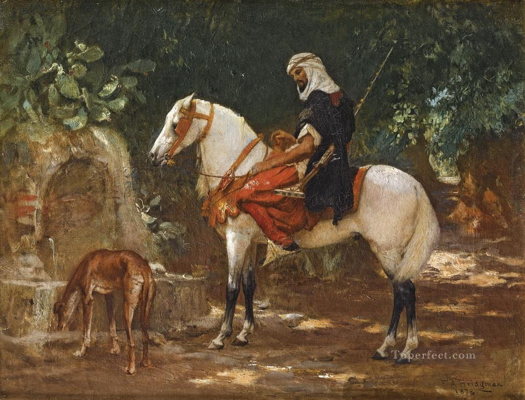 A MOUNTED CAVALRYMAN Frederick Arthur Bridgman Oil Paintings