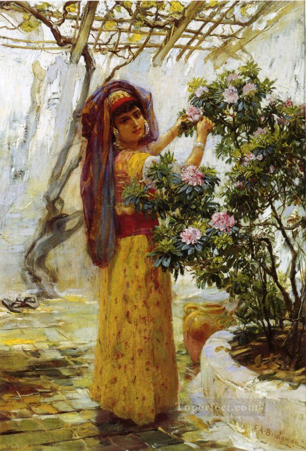 In the Courtyard Frederick Arthur Bridgman Oil Paintings