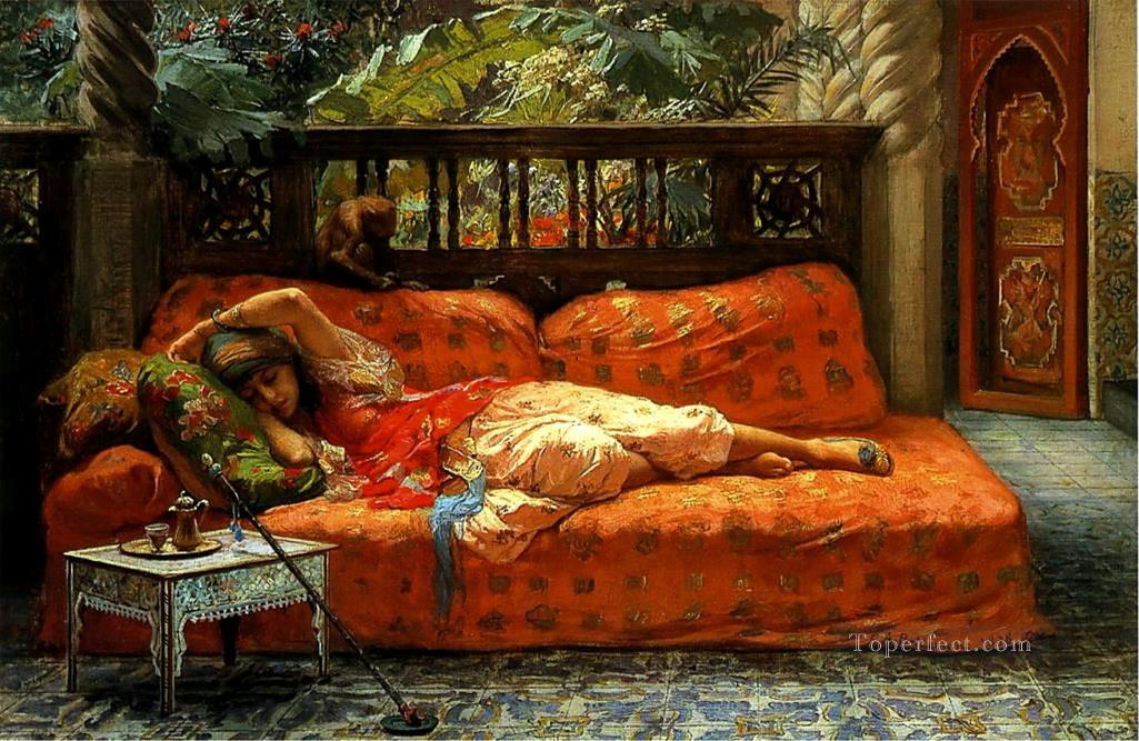 The Siesta Frederick Arthur Bridgman Oil Paintings