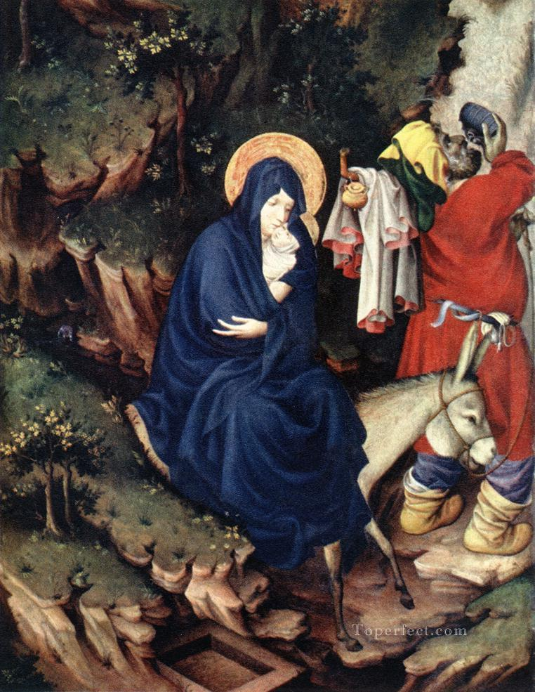 The Flight Into Egypt 1393 Melchior Broederlam Oil Paintings