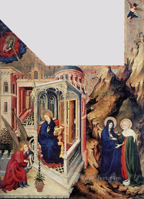 The Annunciation And The Visitation Melchior Broederlam Oil Paintings