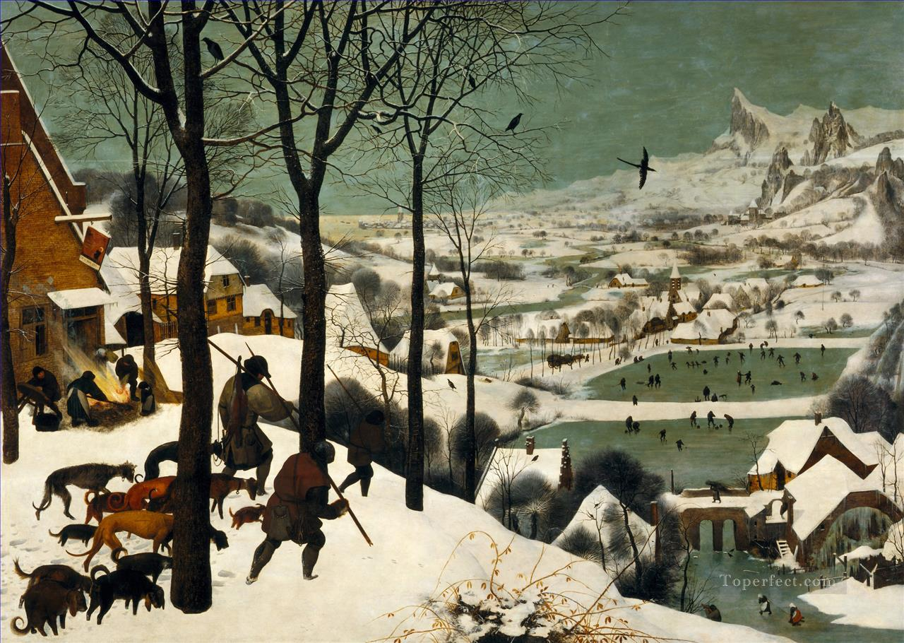 The Hunters In The Snow Flemish Renaissance peasant Pieter Bruegel the Elder Oil Paintings