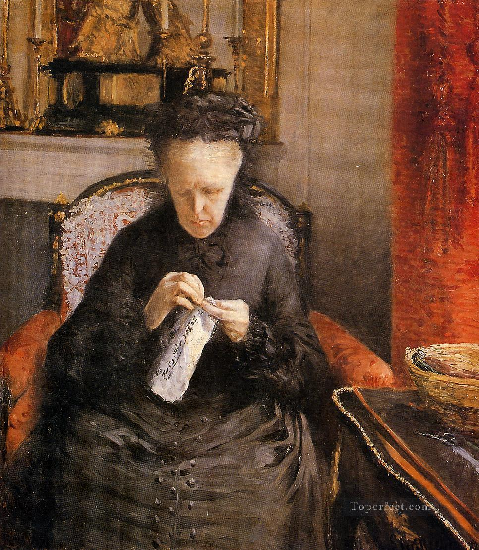 Portait of Madame Martial Caillebote the artists mother Gustave Caillebotte Oil Paintings