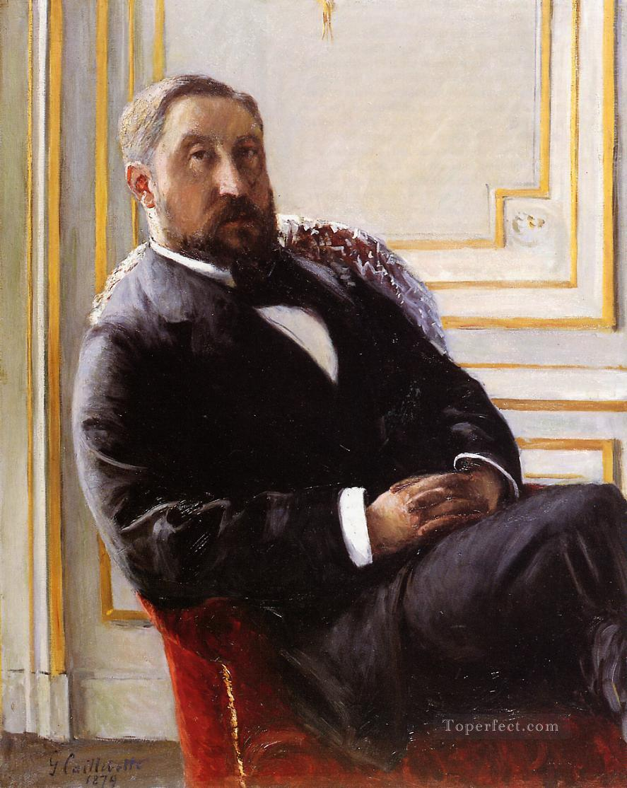 Portrait of Jules Richemont Gustave Caillebotte Oil Paintings