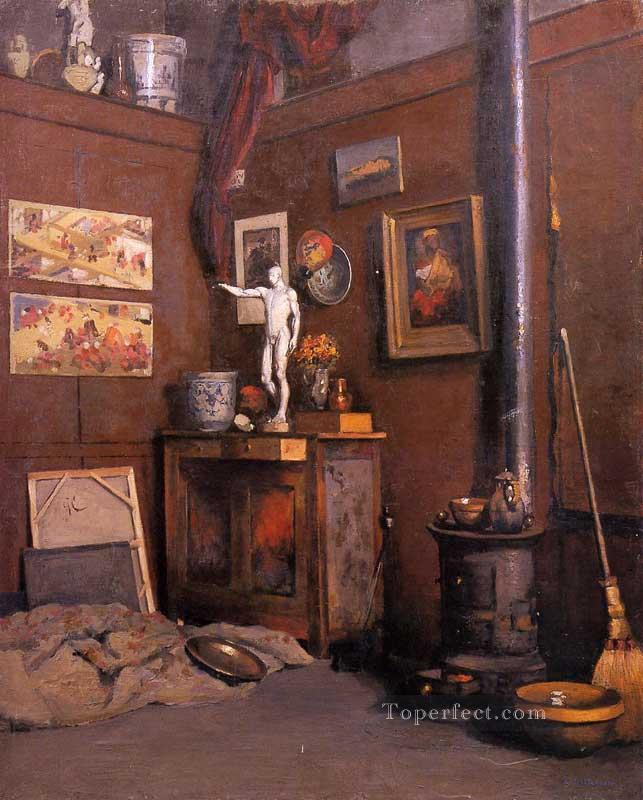 Interior of a Studio with Stove Gustave Caillebotte Oil Paintings