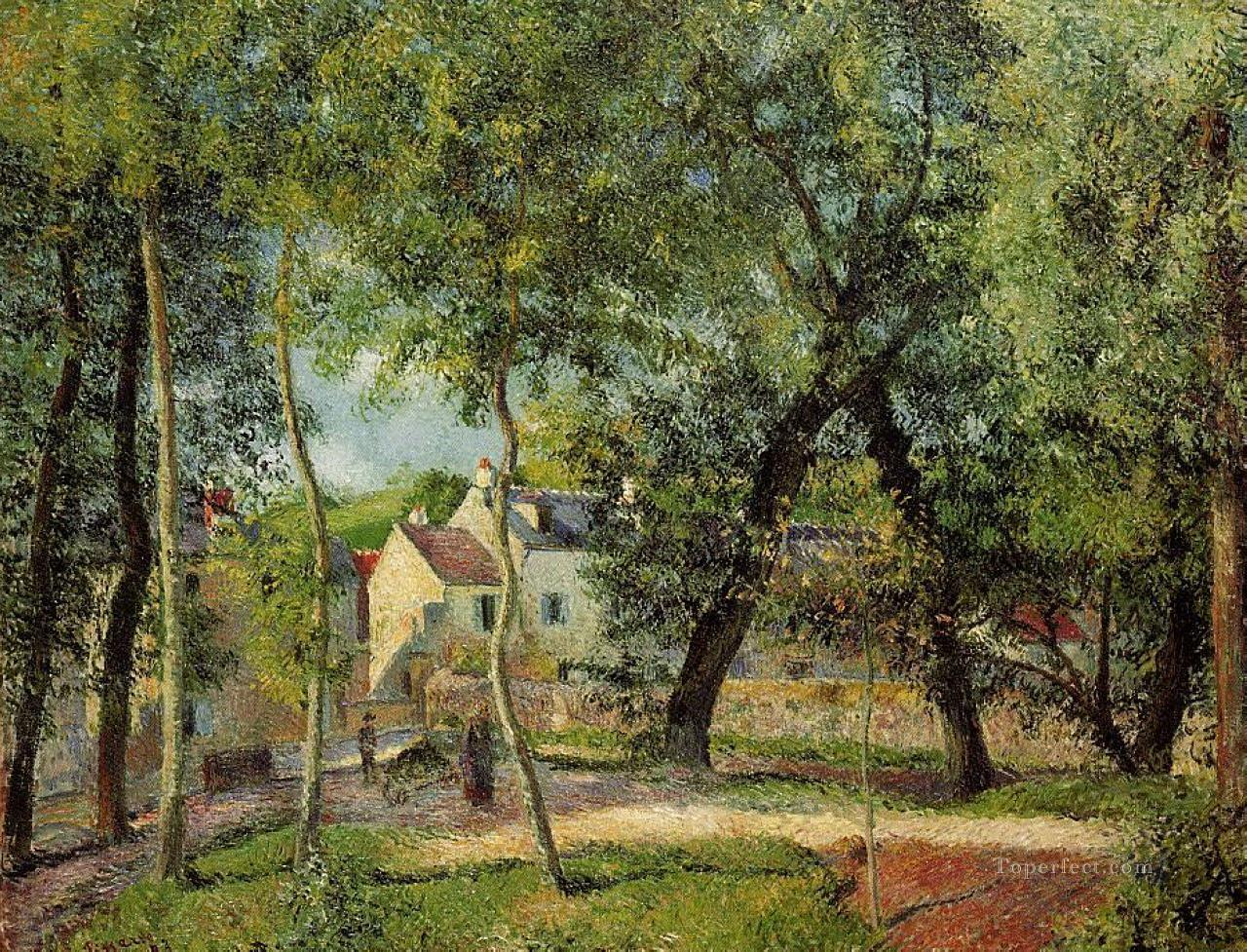landscape at osny near watering 1883 Camille Pissarro Oil Paintings