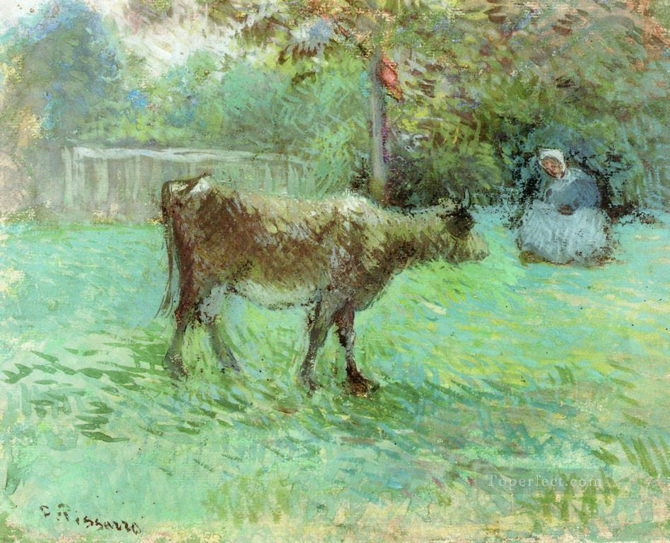 the cowherd Camille Pissarro Oil Paintings