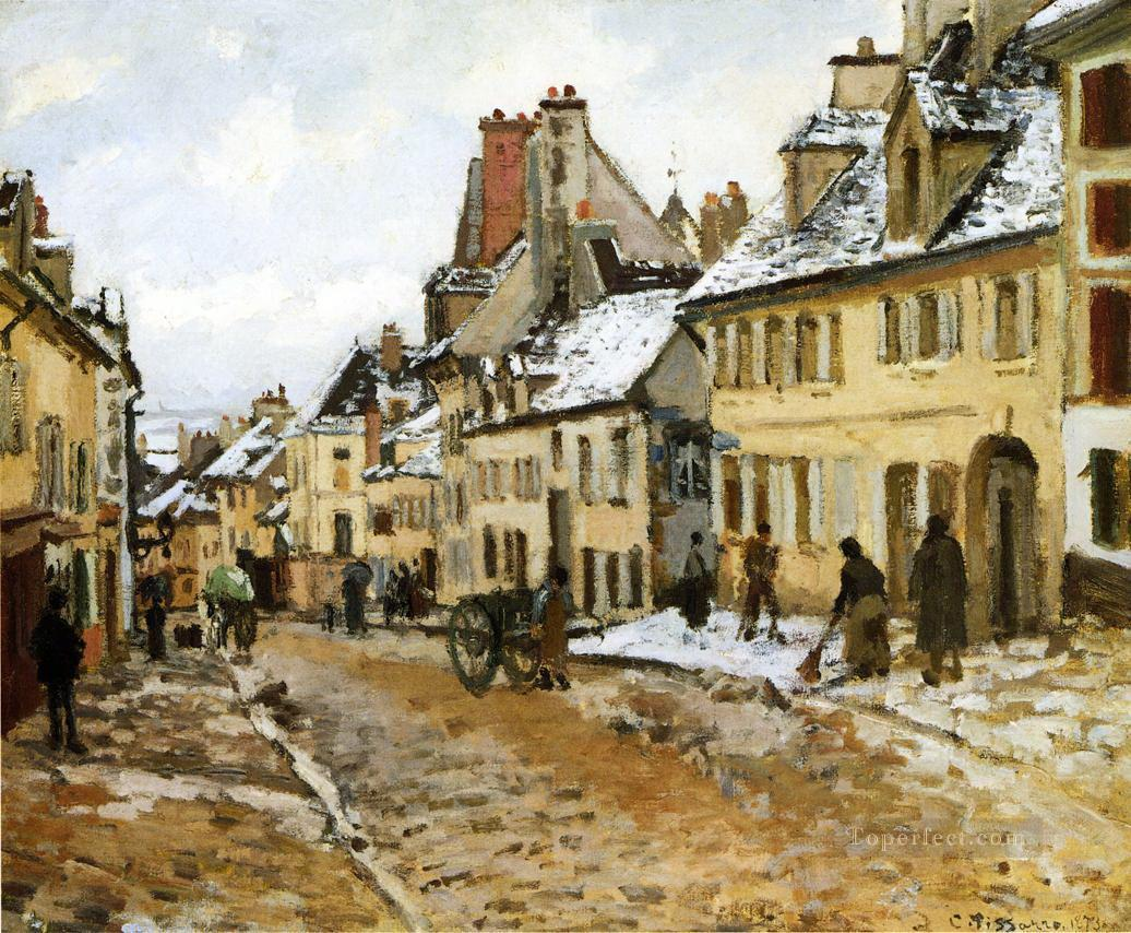 pontoise the road to gisors in winter 1873 卡米耶·毕沙罗油画、国画