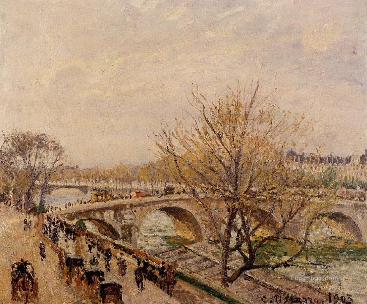 the seine at paris pont royal 1903 Camille Pissarro Oil Paintings