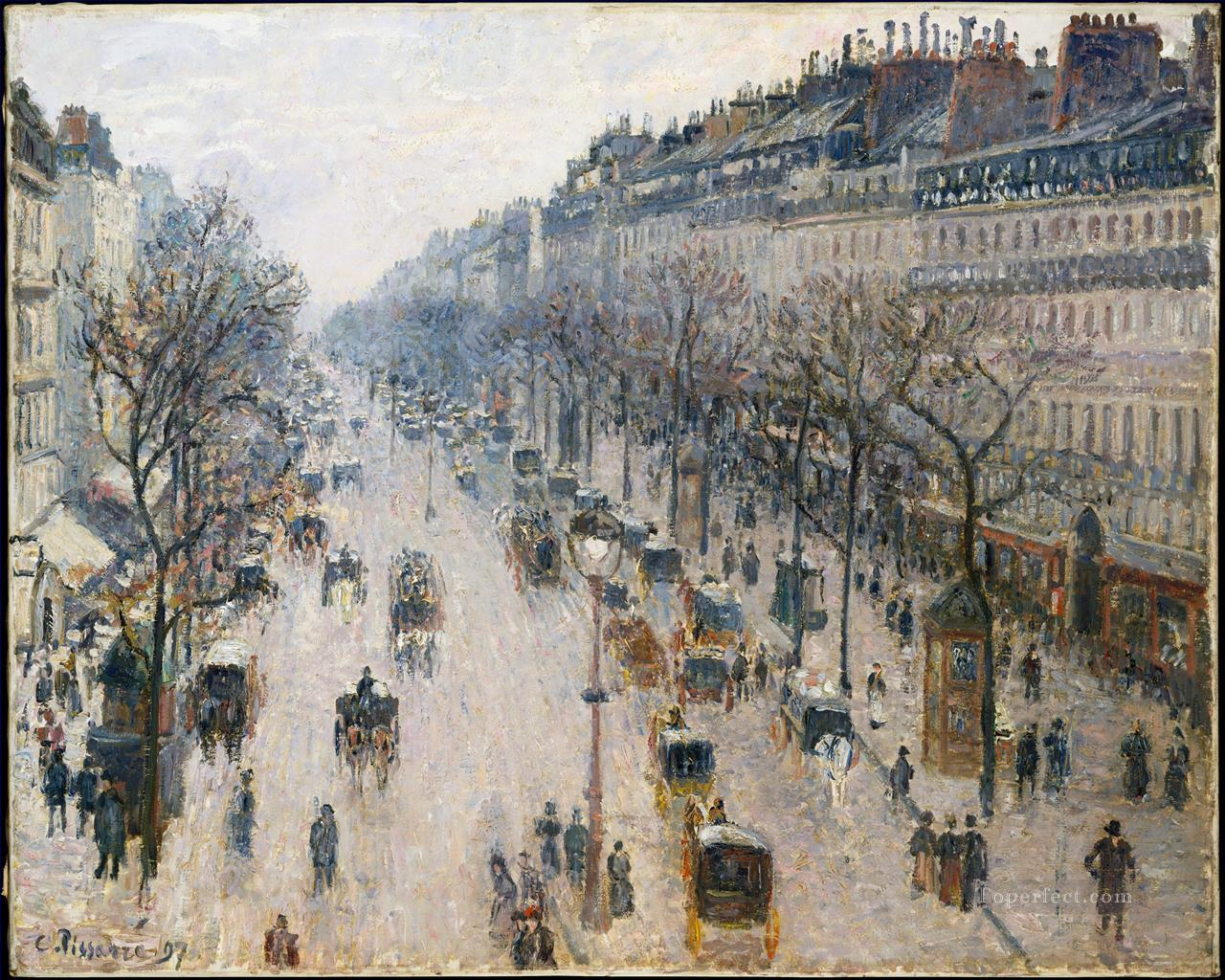boulevard montmartre winter morning 1897 Camille Pissarro Oil Paintings