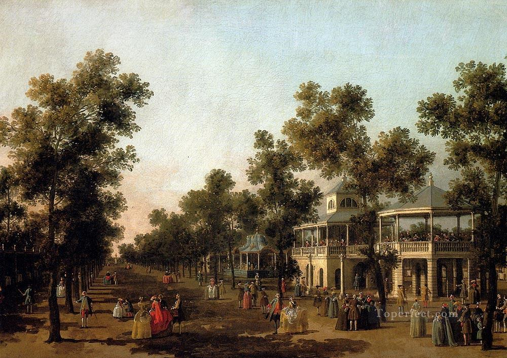 view of the grand walk vauxhall gardens with the orchestra pavilion