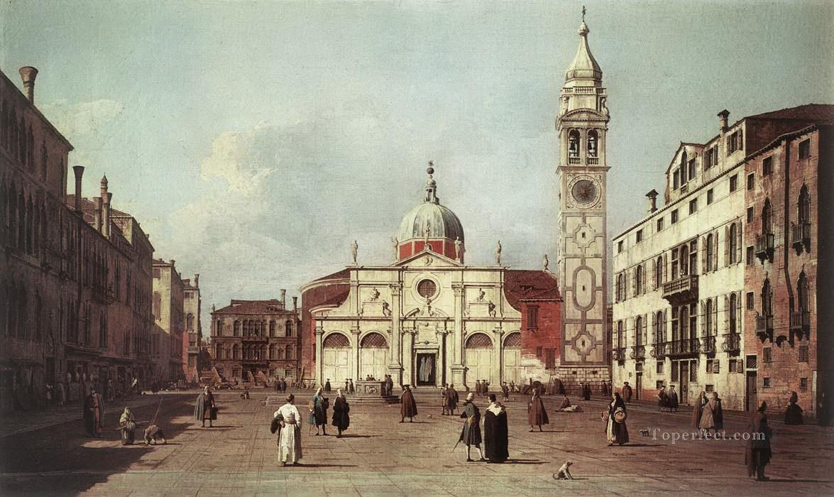 campo santa maria formosa Canaletto Oil Paintings