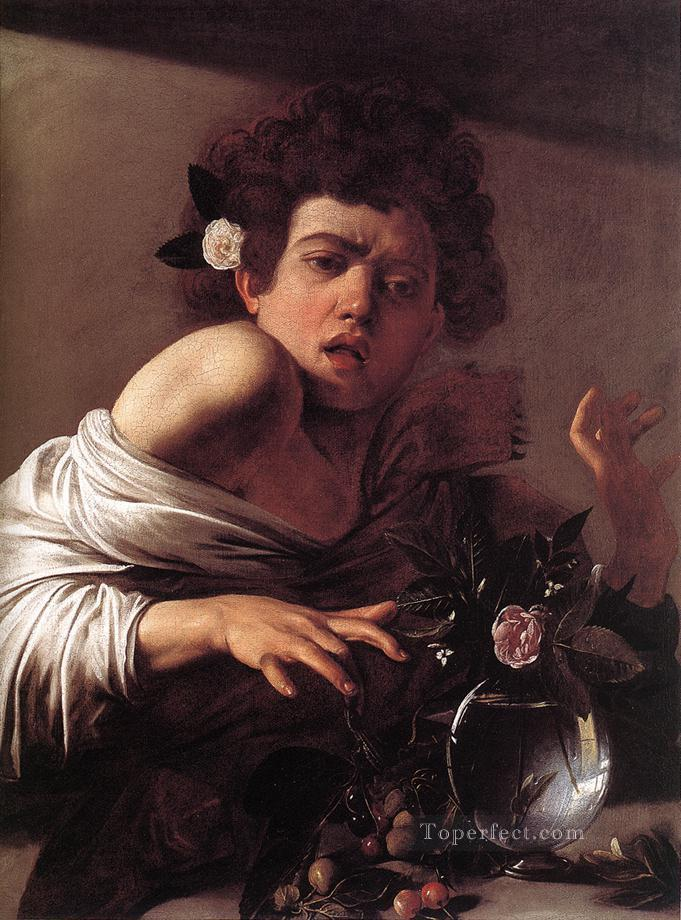 Boy Bitten by a Lizard Caravaggio Oil Paintings