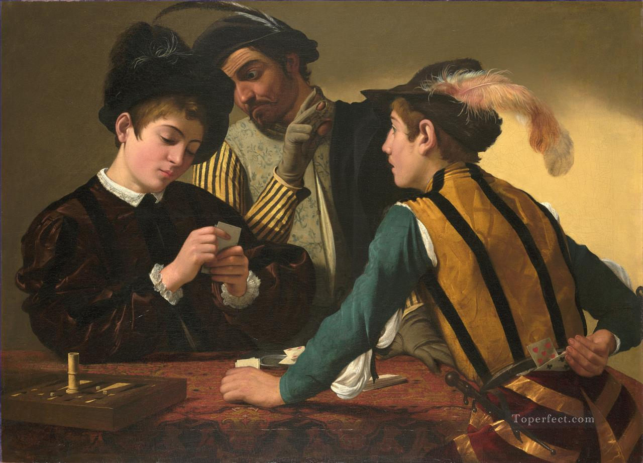The Cardsharps Caravaggio Oil Paintings