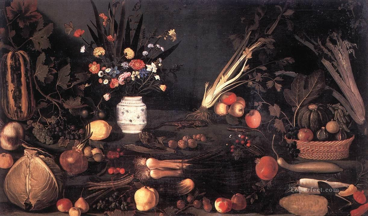 Still Life with Flowers and Fruit Caravaggio Oil Paintings